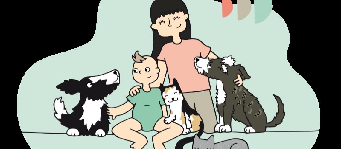 familia multiespecie Creciendo entre Perros Crianza Multiespecie